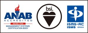 ANAB accredited ISO/IEC 17025. bsi. ISMS-AC ISMS ISR004