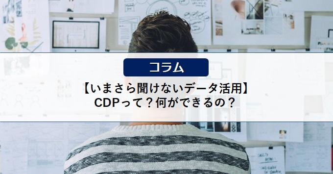 【いまさら聞けないデータ活用】CDPって?何ができるの?