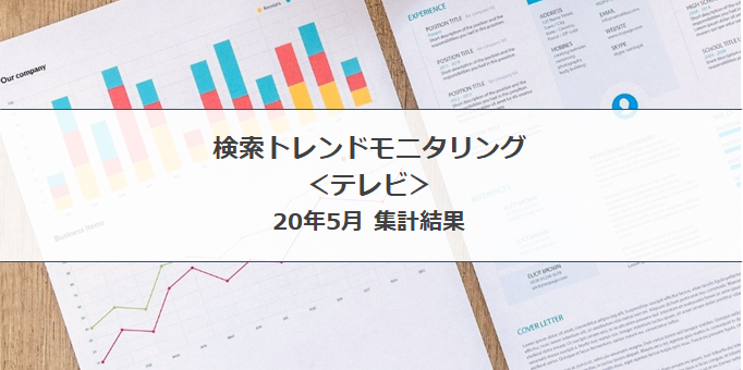検索トレンド モニタリング|テレビ(20年5月集計結果)